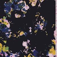 Black Multi Kaleidescope Silk Crepe de Chine