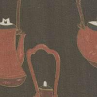 *4 PANELS--Teapot Silk Chiffon PANELS