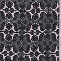 Black Mini Baroque Silk Crepe de Chine