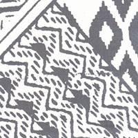 *2 1/2 YD PC--Ivory/Navy Geometric Silk Chiffon
