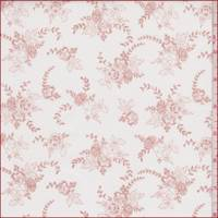 White/Clay Pink Floral Bouquet Poplin