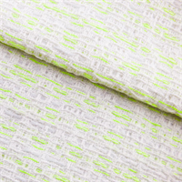 *6 YD PC--White/Neon Yellow Cotton Blend Texture Woven