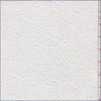 *3 YD PC--Whisper White Floral Petal Lace