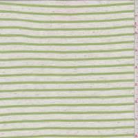 *3 3/8 YD PC--Heather/Lime Stripe T-Shirt Knit