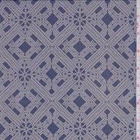 Royal/Hazelnut Diamond Silk Chiffon
