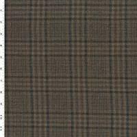 *1 1/2 YD PC--Brown/Gray/Multi Plaid Flannel Jacketing