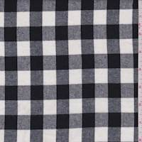 *2 3/4 YD PC--Black/White Glen Plaid Check Flannel