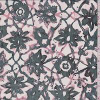 Spruce Lattice Medallion Silk Chiffon