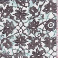 Mahogany Lattice Medallion Silk Chiffon
