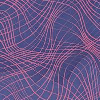 Marine Blue/Coral Matrix Silk Chiffon
