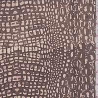 Bark/Beige Crocodile Silk Chiffon