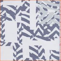 Powder White Chevron Block Silk Chiffon