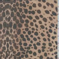 Camel Brown Leopard Silk Chiffon