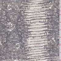 Black/Stone Snakeskin Crinkled Silk Chiffon