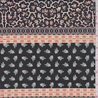 Black Deco Stripe Polyester Chiffon
