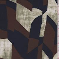 Sage/Mocha/Black Modern ITY Jersey Knit