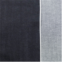 *5 YD PC--Dark Indigo Blue Slub Cotton Japanese Selvedge Denim
