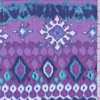*3/4 YD PC--Purple/White/Blue Southwest Crinkled Chiffon