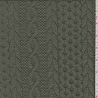 *2 YD PC--Cadet Green Quilted Cable Knit
