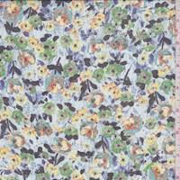 *1 3/8 YD PC--Multi Poppy Silk Chiffon