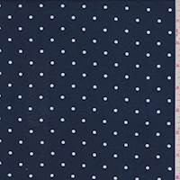 Deep Blue Dot Rayon Challis