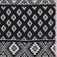 Black/White Southwest Diamond Rayon Challis