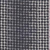 Ivory/Slate Shadow Cube Silk Chiffon
