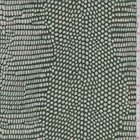 Grass/Aqua Crocodile Print Silk Chiffon
