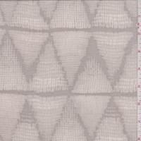 Taupe Mesh Diamond Print Silk Chiffon
