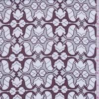 Maroon/Talc Mini Baroque Print Silk Chiffon