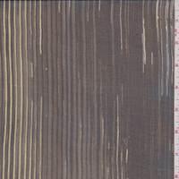 Black/Sage Pinstripe Silk Chiffon