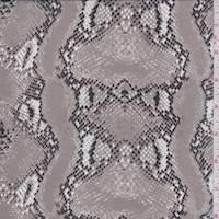 Pumice Snakeskin Silk Chiffon