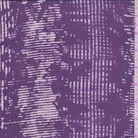 Plum/Pearl Wicker Stripe Silk Chiffon