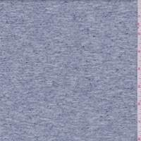 *5/8 YD PC--Heather Slate Blue Slubbed Jersey Knit