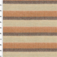 *1 1/2 YD PC--Striped Wool Lame Jacketing