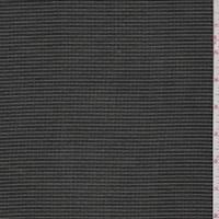 Black/Olive Pinstripe Stripe Silk Crepe de Chine