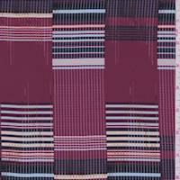 Ruby Multi Grid Plaid Silk Crepe de Chine
