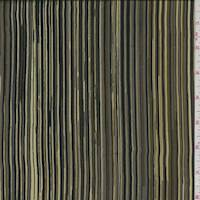 Sage/Olive/Grey Stripe Silk Crepe de Chine