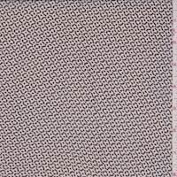 Sand/Black Birdseye Silk Crepe Chiffon