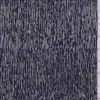 Pacific Blue/Pearl Streak Silk Crepe de Chine