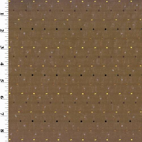 *7 YD PC -Brown Embroidered Shantung Home Decorating Fabric