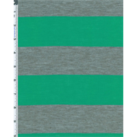 *3 1/8 YD PC--Green/Gray Stripe Jersey Knit