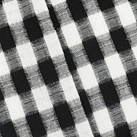 *1 5/8 YD PC--Black/White Checkered Plaid Jacquard Suiting