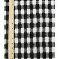*1 5/8 YD PC--Black/White Checkered Plaid Jacquard Suiting