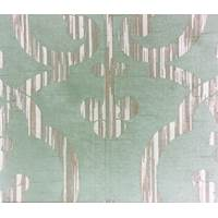 * 3 1/2 YD PC -- Dusty Teal Imperial Ogee Jacquard Home Decorating Fabric