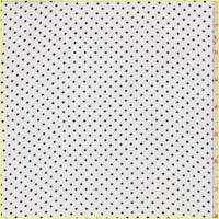 *7/8 YD PC--Off White/Black Pindot Silk Chiffon