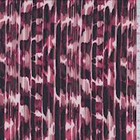 *1 3/8 YD PC--Ruby Brush Stroke ITY Jersey Knit