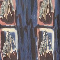 *2 YD PC--Blue Woven Silk Twill Gauze