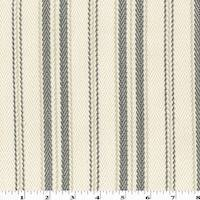 *1 1/2 YD PC - Gray/Ivory/Multi Cotton Stripe Herringbone Decorating Fabric