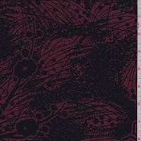 Cranberry/Black Floral Silk Georgette